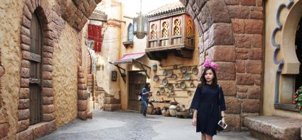 Do not focus on my face, i just wanna show you the arabian area inside DisneySea
